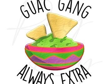 Guacamole - Guac Gang - Sublimation print/PNG/JPG
