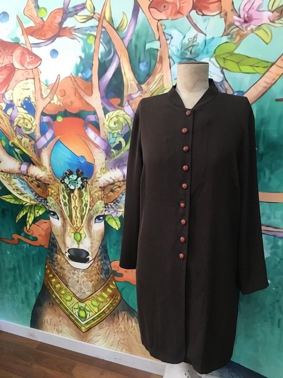 Vintage plus size button up dress