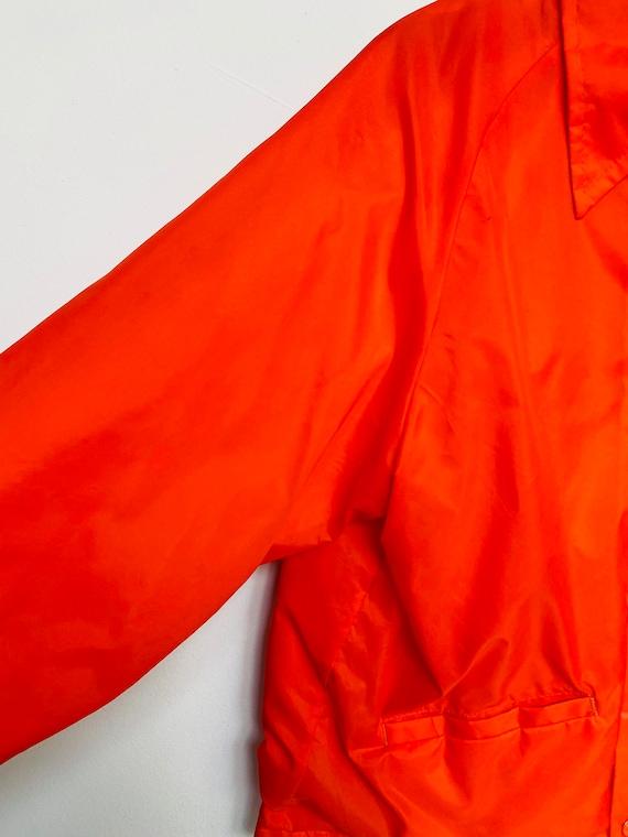 Vtg Orange Wind breaker/Sz Medium/Neon Orange/Ora… - image 6
