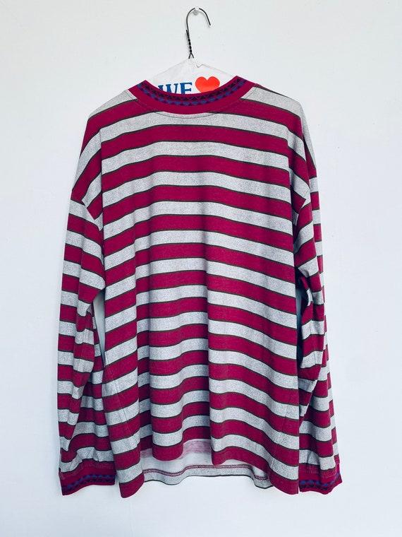 Vtg Long Sleeve Shirt/Striped/Sz L/Oasis Brand/ Lo