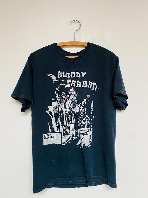 Vtg Black Sabbath T-Shirt/Sz Medium/Black/ Boot Le