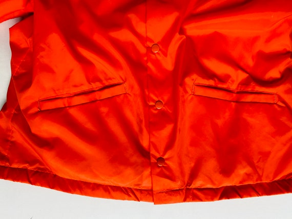Vtg Orange Wind breaker/Sz Medium/Neon Orange/Ora… - image 7