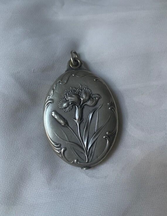 Silver Art Nouveau Locket - image 1