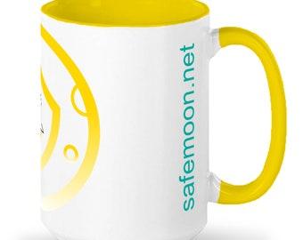 15oz ceramic SAFEMOON mug - Gold Logo