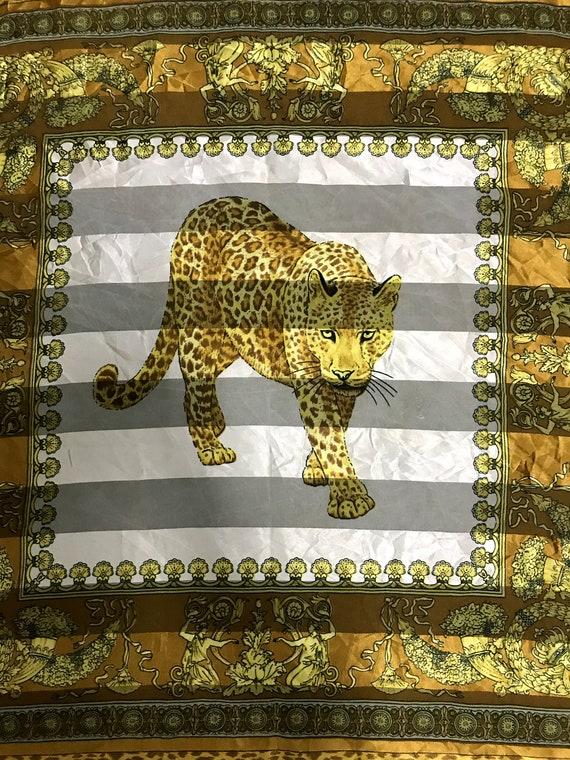 Vintage 90s Big Cats Tiger Leopards Art Design Mot
