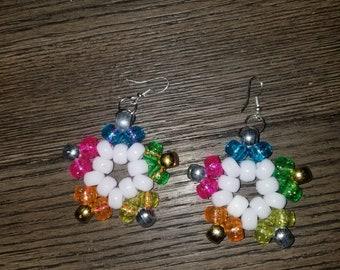 Kandi Rainbow Ball Earrings