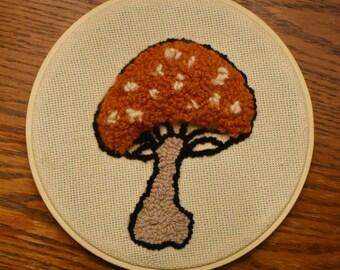 Mushroom punch needle