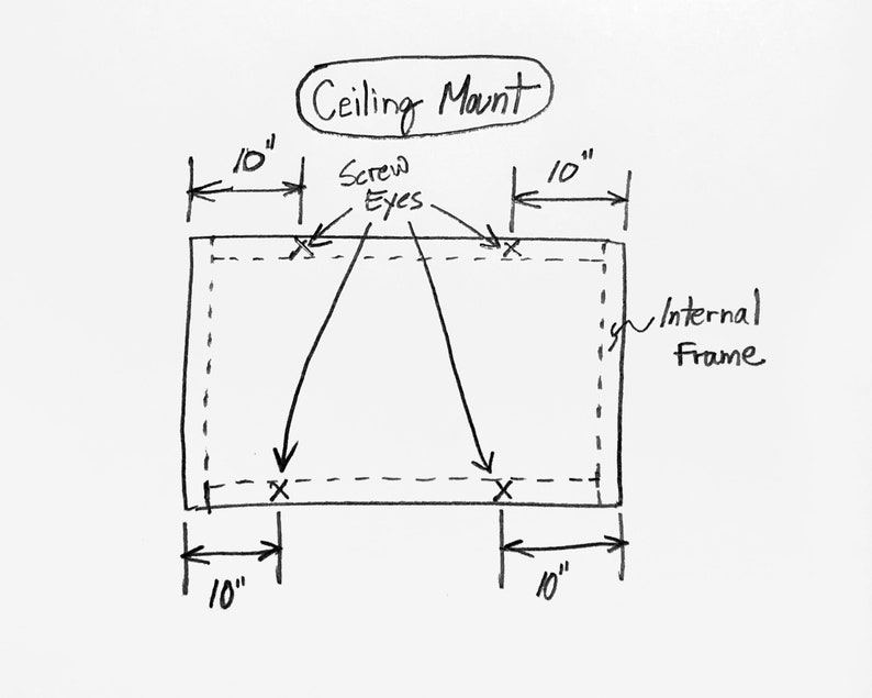 CEILING /& CORNER Mounting Kit for hanging Acoustic Panels and pictures Wall Art Installation Instructions Included Heavy Duty Hardware