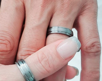 Tungsten Ring, Wedding Men's Ring, Unisex Band, Thumb Ring