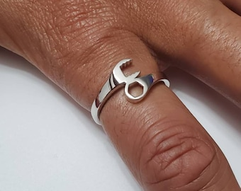 Wrench Ring, Sterling Silver Men & Women's Ring, Masculine Silver Band, High Polished non tarnish ring, Gift for him