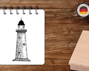 Stempel Leuchtturm 01 Adressenstempel maritim Nordsee Ostsee Nautik Seemann