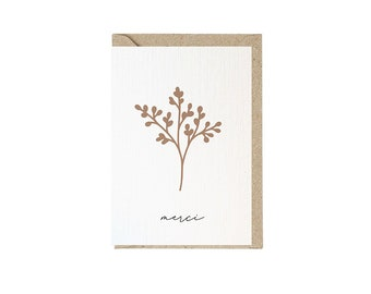 Greeting card with envelope | Option with wax seal | Print of hand-painted illustrations
