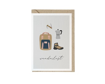 Greeting card with envelope | Print of hand-painted illustrations
