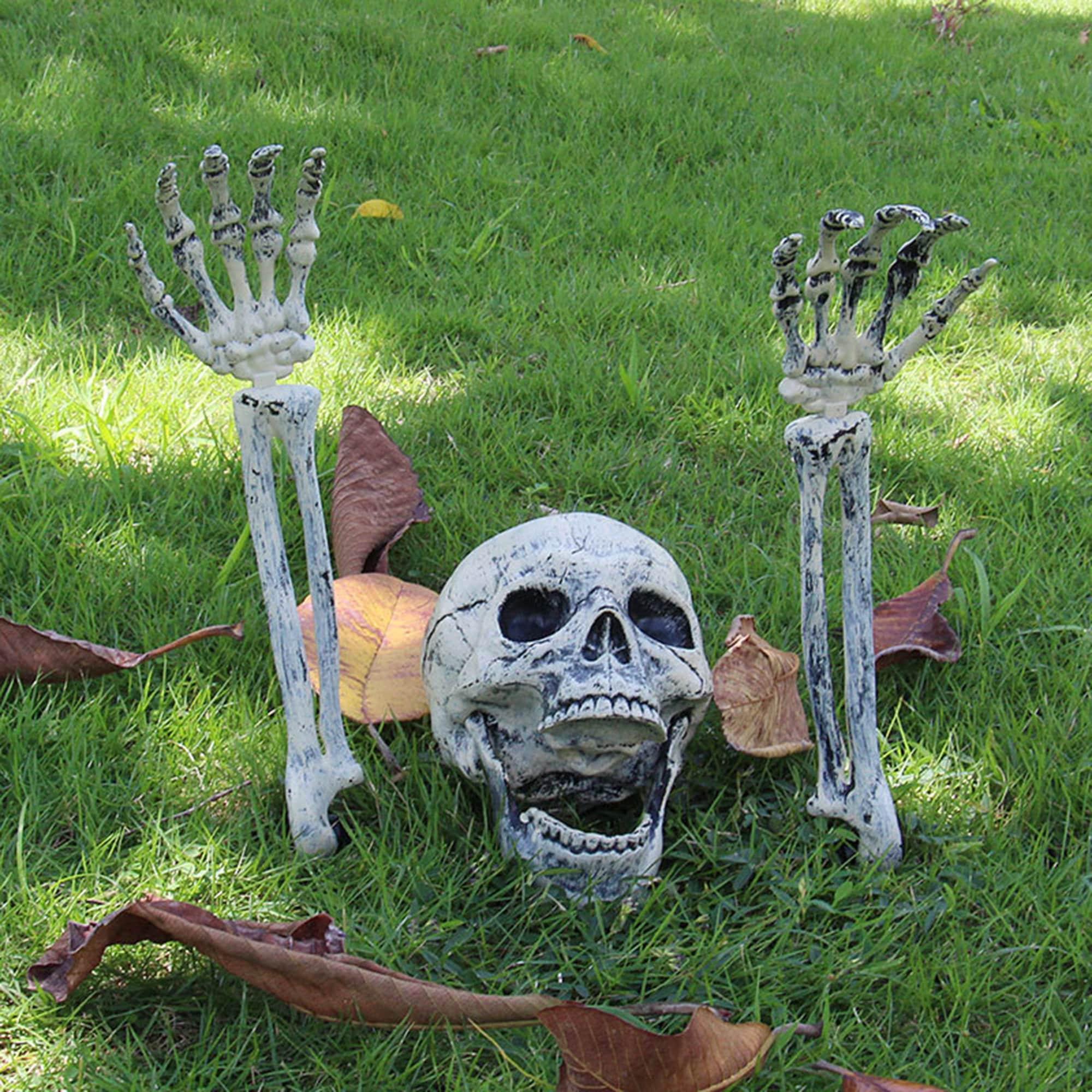 Realistic Skeleton Stakes Halloween Decorations for Lawn Stakes Garden Halloween Skeleton Decoration, Garden Ornament, Horror Skull Props