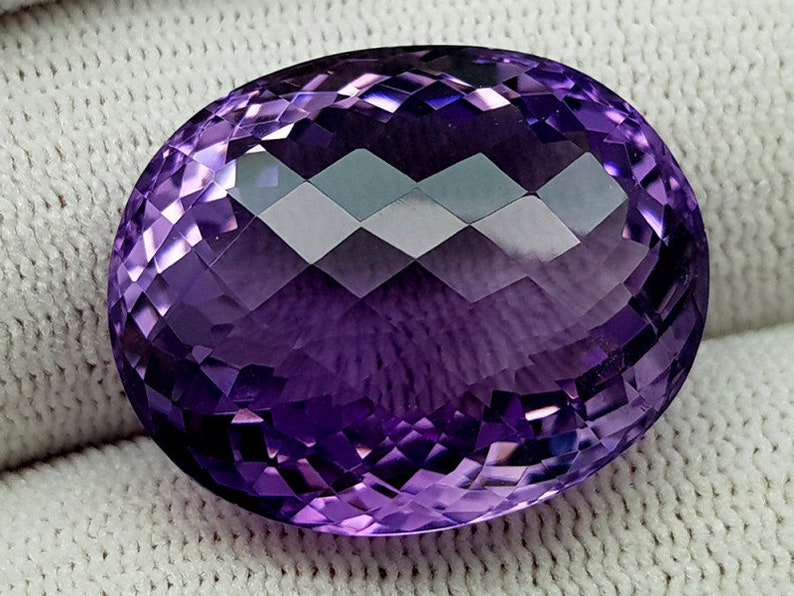 Amazing Faceted Gem Ideal for Jewellery Pendant or Unique Gift. Natural Large Amethyst Gemstone