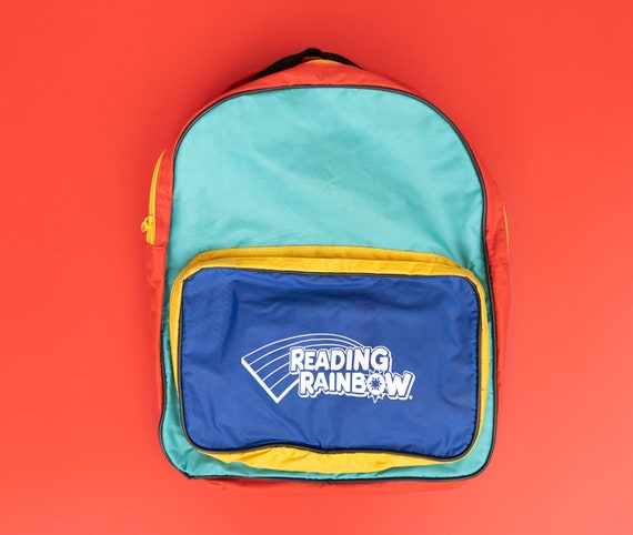 Vintage 90s Reading Rainbow children's backpack