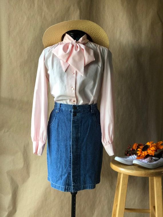 90's Dark Wash Denim Mini Skirt Bill Blass L