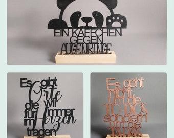 Spruch Holz Deko Leben Geschenk Holzschild Schriftzug Wandschild lustig Liebe Motivation Aufsteller Natur Holzdeko Handmade Handgemacht