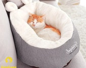 Pet Cat Dog Bed, Warming Dog House, Soft Material Cat Sleeping Bag, Pet Cushion, Kitten Puppy Kennel
