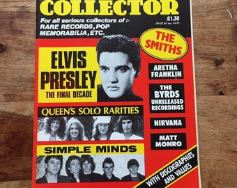 Vintage record collector magazine Aug 1987 - Elvis Presley, The Smiths, Queen, Aretha Franklin, The Byrd's, Simple Minds