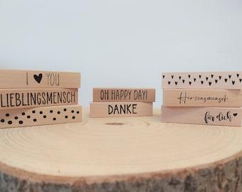 CARD HALTER for postcards, place cards, wedding, birthday, acrylic glass / decoration / gift idea