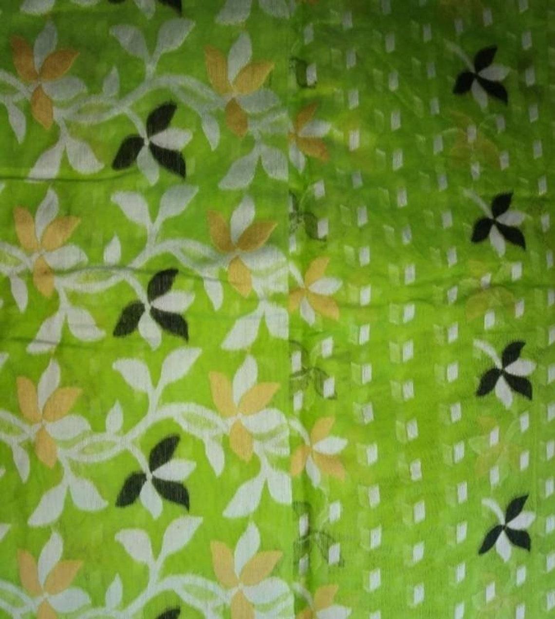 Dhakai Jamdani saree.soft handloom jamdani.all over Work.