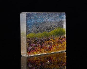 Fused Glass Interior Object, Small Sculpture: Dunwich Heath