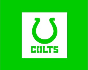 INDIANAPOLIS COLTS Word Football Team 8.5 x 11 Stencil Plastic Sheet NEW S83