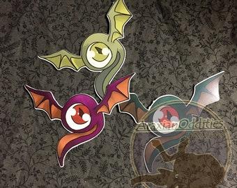 Monster Sanctuary- Mad EyeDie Cut Sticker