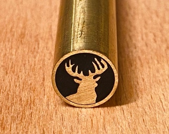 DEER-3 Mosaic Pin 10/8/6 mm - Length 70 or 100 mm- High quality Brass Knife Pins for Custom Knives and Handles