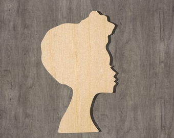 Woman Laser Cut Out Unfinished Wood Shape Craft Supply PPL3