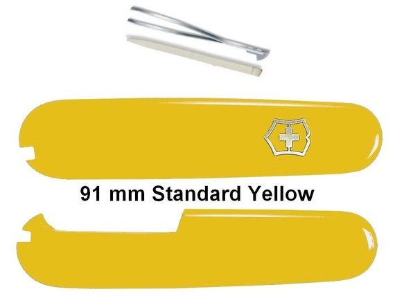 Swiss Knife VICTORINOX 91 mm SCALES STANDARD (2 Slots) Yellow for Swiss Army Knife