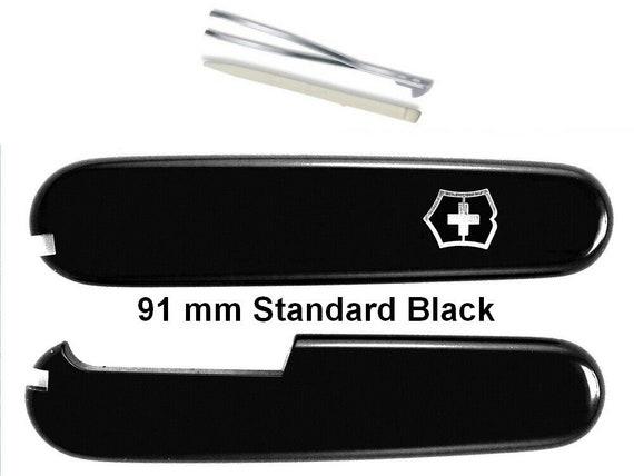 Swiss Knife VICTORINOX 91 mm SCALES STANDARD (2 Slots) Black for Swiss Army Knife