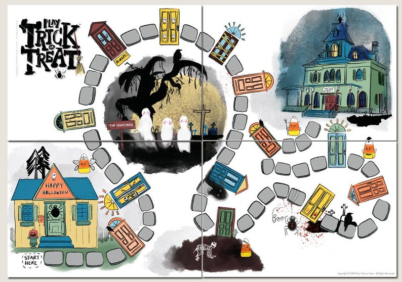 Play Trick-or-Treat™ a printable board game set. Halloween image 0