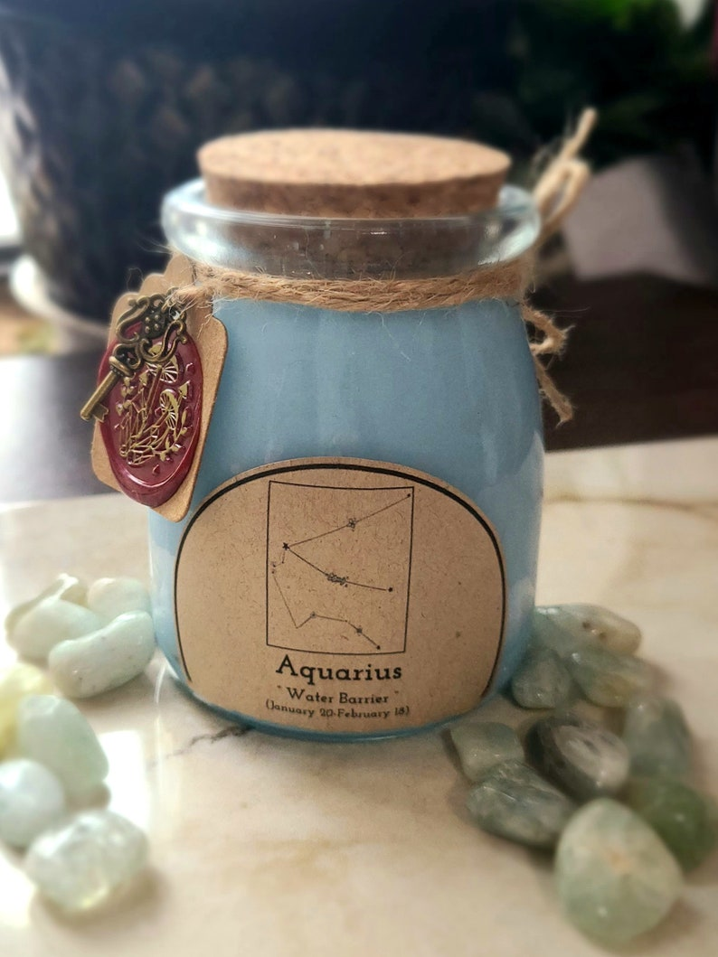 Zodiac CandleAquarius Treasure candle Potion Bottle Candles