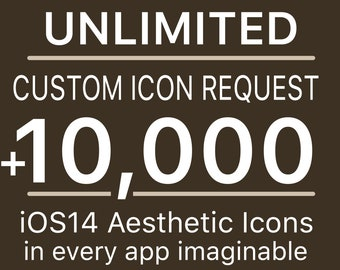 Unlimited Request iOS Custom Icon   Plus All Access Pack   iPhone IOS14 App Icons Pack   Aesthetic Home Screen   Widget Photos   Widgetsmith