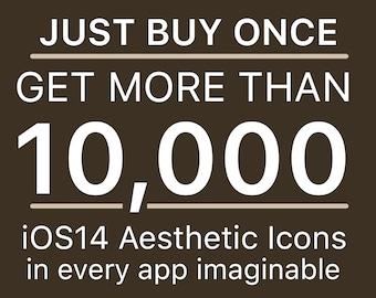 10,000+ iOS Mega Icon Pack   All Access Pack   iPhone IOS14 App Icons Pack   Aesthetic Home Screen   iOS 14 Widget Photos   Widgetsmith