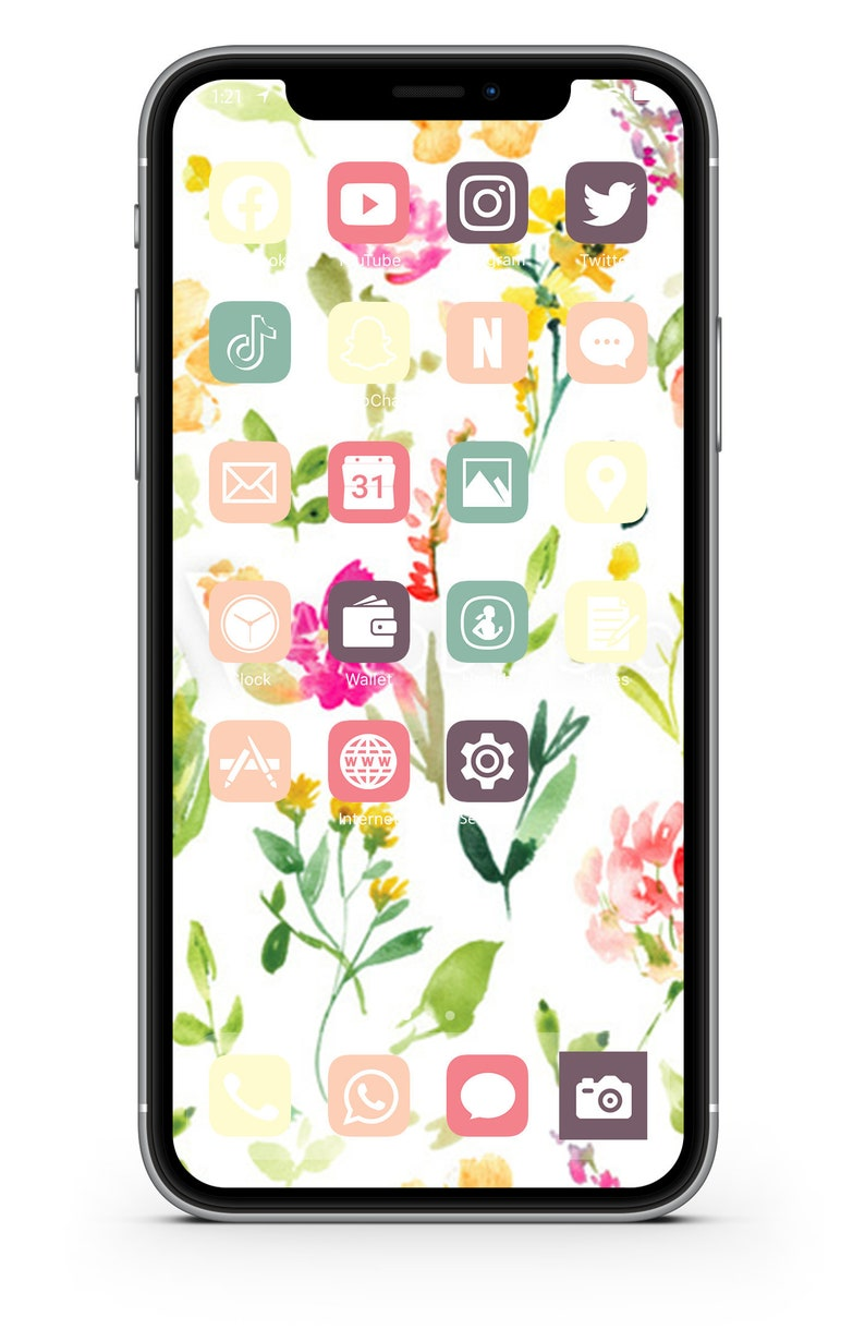 iOS Icon Lifetime All Access Pack  Spring Floral iPhone IOS14 image 0