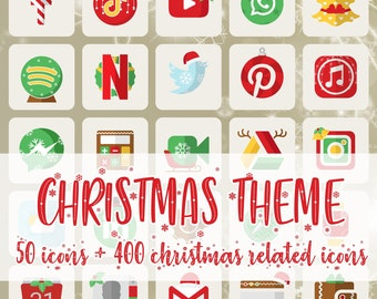 Christmas iOS Icon Pack Wallpaper incl.   All Access Pack   iPhone IOS14 App   Aesthetic Home Screen   iOS 14 Widget Photos   Widgetsmith