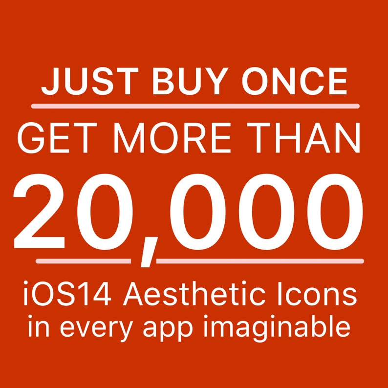 20000 iOS Icon Pack  All Access Pack  iPhone IOS14 App image 0