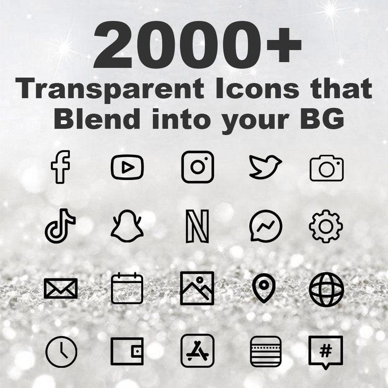 2000 iOS Transparent Black Icon Pack  All Access Pack  image 0