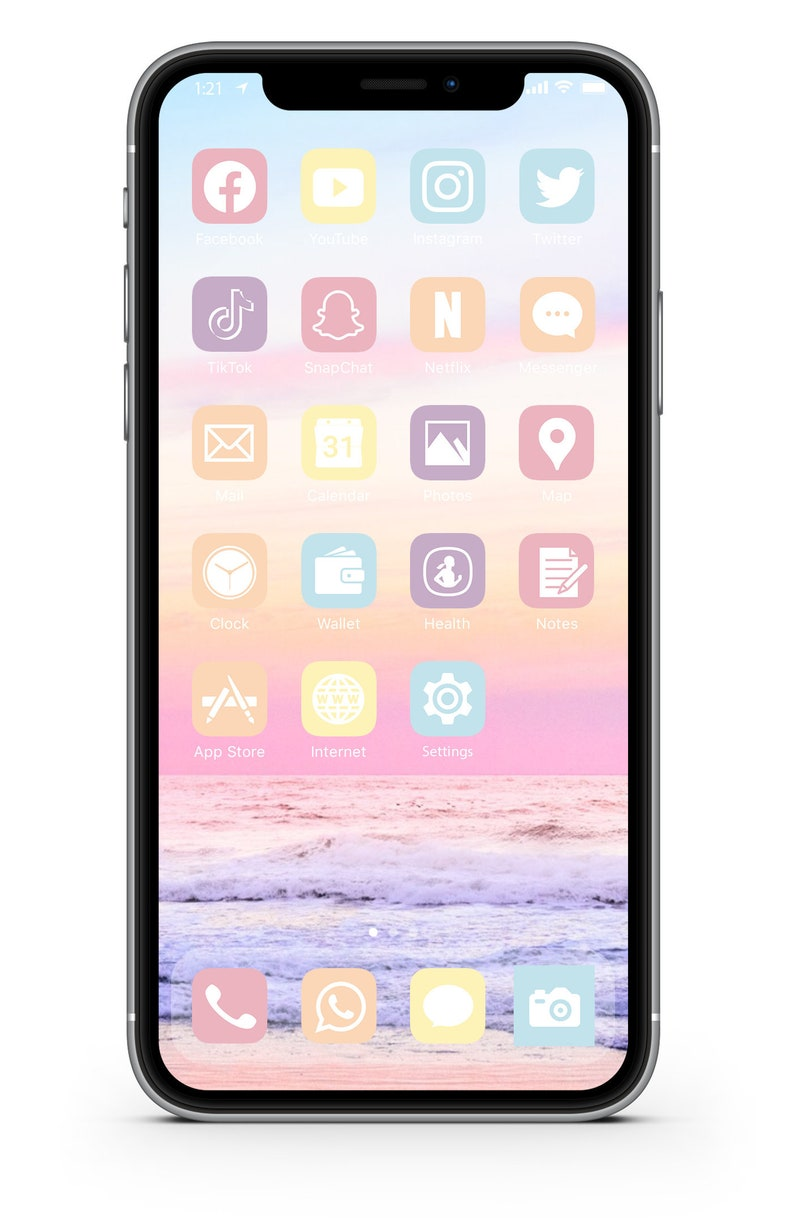 iOS Icon Lifetime All Access Pack  Pastel Beach iPhone IOS14 image 0