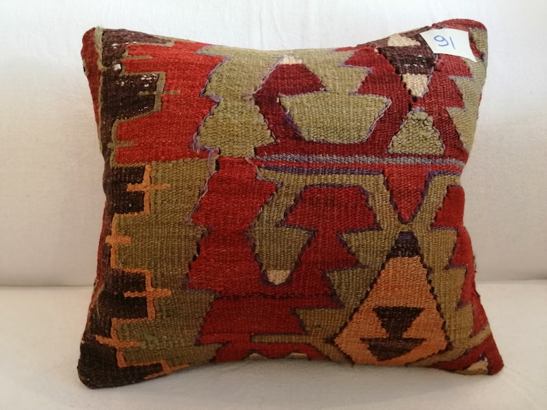 Pillow Cover Cushion Cover Ethnic Pillow Bohemian Pillow,Turkish Kilim Pillow DECORAT\u0130VE P\u0130LLOW 16x16 inch