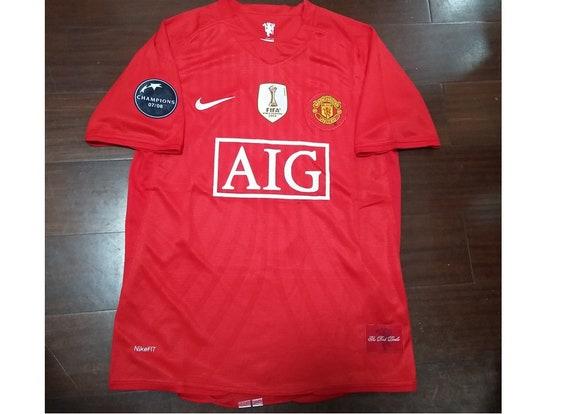 ronaldo cr7 manchester united vintage jersey shirt