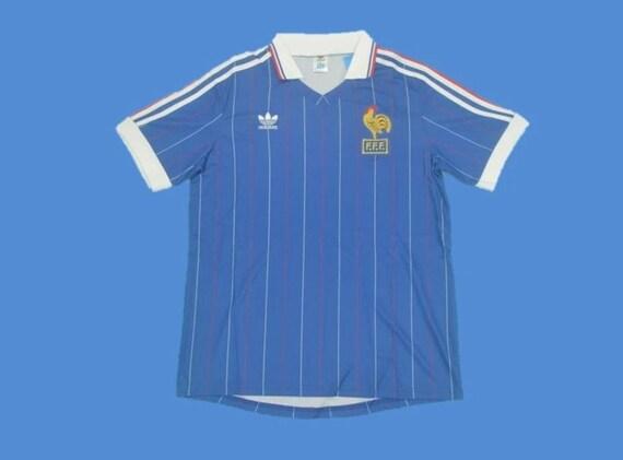 france 1982 platini classic football shirts vintag