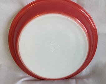 #209 Pyrex Flamingo Pink Pie Plates Pair