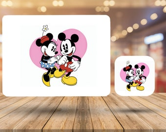 Disney Mickey Mouse Home Décor Gift 9.5 x 9.5 cm High Gloss Drink Cup Coaster