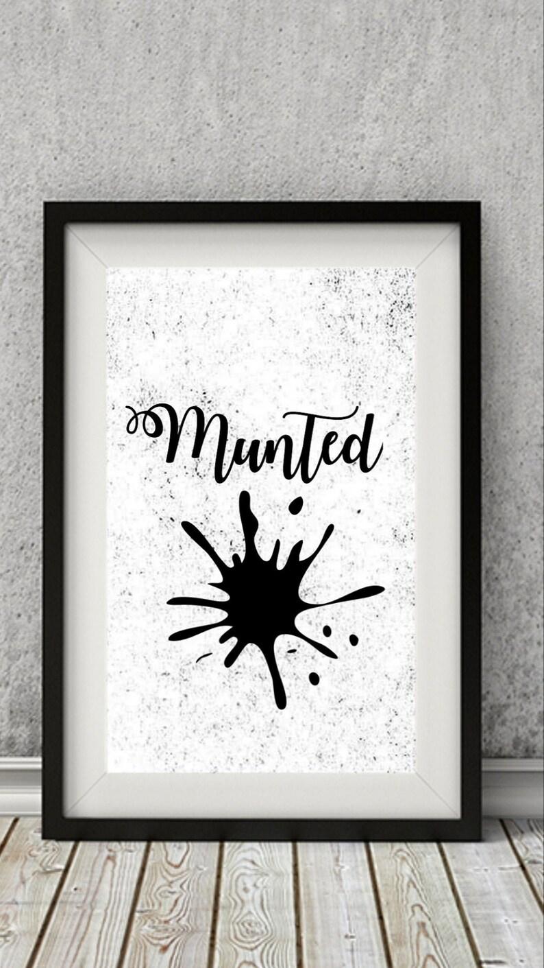 Munted digital wall art Party and hangover digital print Sassy bar room wall decor