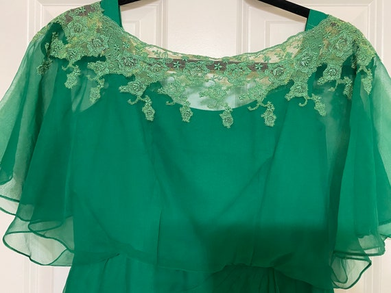 Emerald Green Edwardian Style Dress