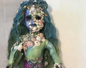 OOAK, doll, mermaid, scary, horror